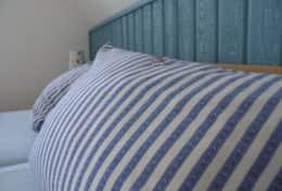 Bettwäsche inkluisve und bei Anreise aufgezogen