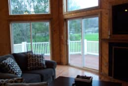 living area/access to deck from sliding doors