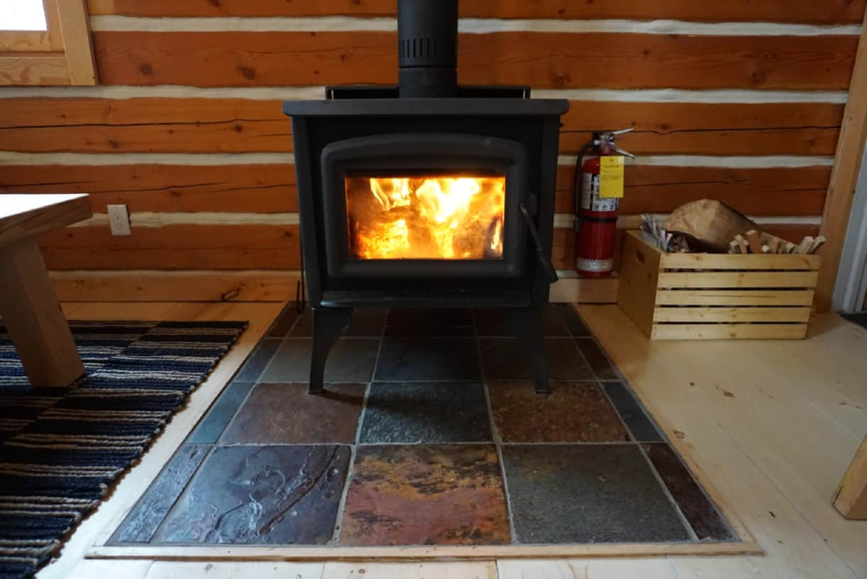 The charming warmth of a wood stove