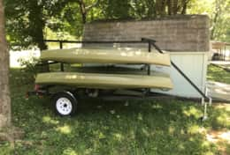 Our kayaks and trailer for rent