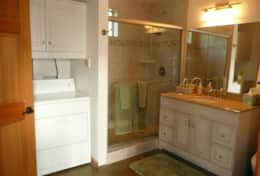 Large Bathroom with Walk-In Shower & Laundry