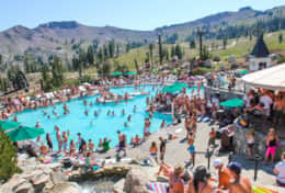 Take the Tram to High Camp at Squaw for a great pool party