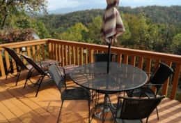 moonshine cabin deck relaxing mountian views