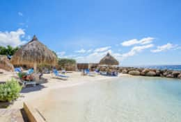 013 private beach with palapa´s