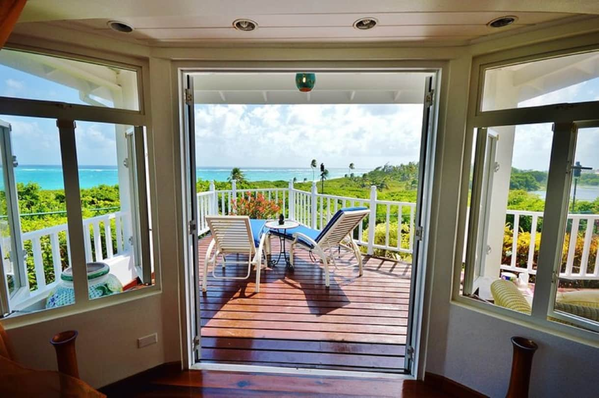 Master Bedroom View of this Barbados Luxury Villa Vacation Rental