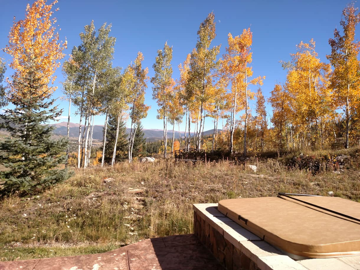 Fall view from hot tub
