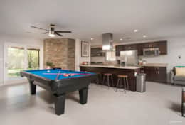 Entertainment space with pool table