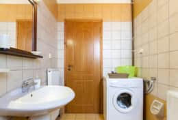 Toilet with washing machine