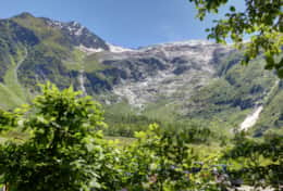 Glacier du Tour, as seen from the chalet's garden in the summer.