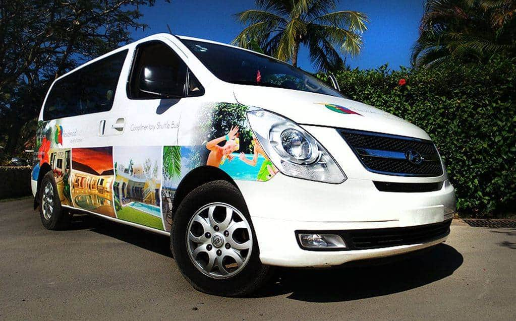 RCL complimentary shuttle to take CC-P family to Sosua, Cabarete, local beaches several times a day