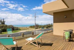 The Sandcastle - Front Balcony - Good House Holiday Rentals