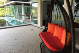 Master balcony with swing; views overlooking Chalong Bay