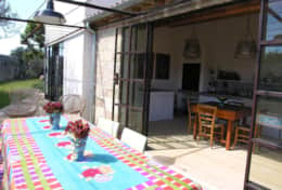Cava - glass french door which opens onto the furnished terrace - Barbarano - Salento