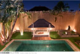 Villa Rabu - Garden by night 2nd floor view