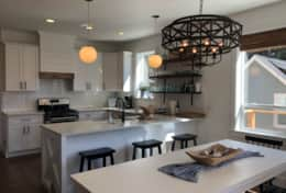 Gorgeous high end kitchen with everything you need, plus open flow dining & living w/ ocean views.