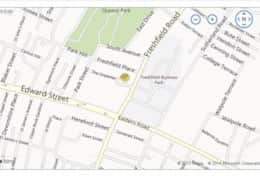 Location map for the townhouse