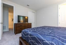 Fifth Bedroom with large flat screen TV