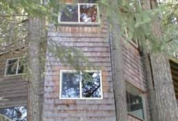 Two Story Tree House View from the Meadow