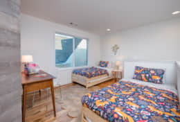 The loft area in Unit 2 offers 2 twin-size beds and a desk.