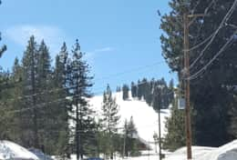 View of Ski Runs From Driveway
