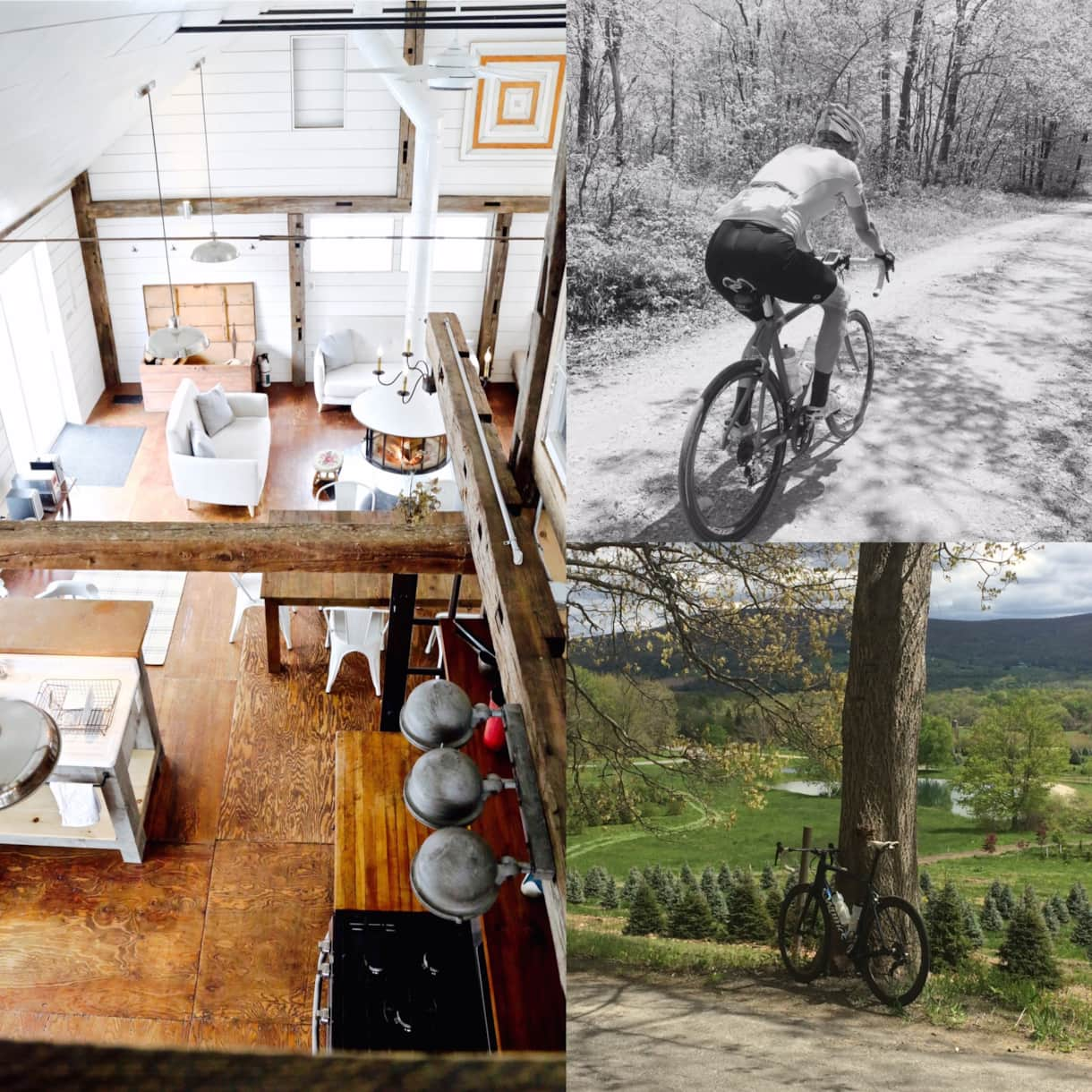 rustic, arcadian cycling & lodging