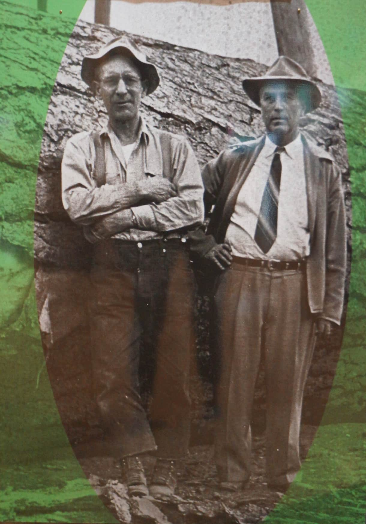 Owner's father is on the right - Sierra Nevada Logging Museum