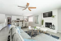 Open Concept living room/Kitchen area