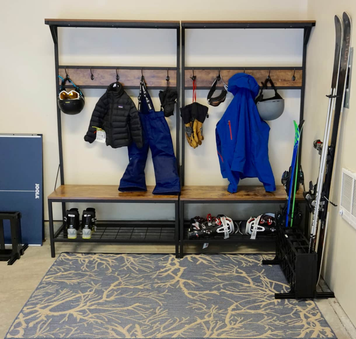 heated garage - perfect for ski & board gear