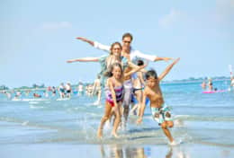 Enjoy some fun in your vacation on the beach just 1.2 km from the house.