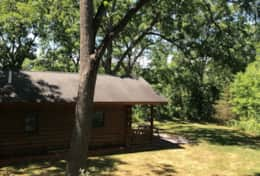 Basswood cabin front
