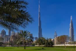 28 - Burj Khalifa View from Lawn