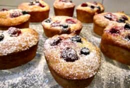 Freshly made almond,  coconut and berry Frianz