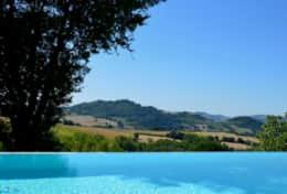 View from the pool at Umbrian Villa