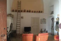 Essiccatoio - entrance room with sitting area and fire place - Gagliano del Capo - Salento