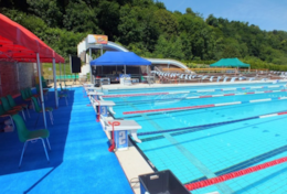 Lehon outdoor pool open all year round