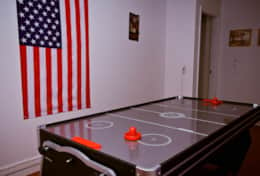 Air Hockey in our Games Room