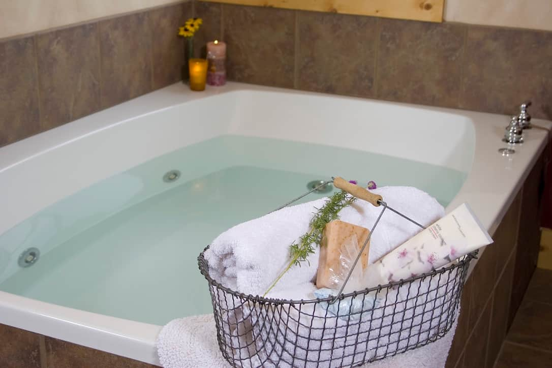 Huge jacuzzi spa hot tubs at Pine Grove Park Bed and Breakfast Romantic Wisconsin Getaway Reedsburg