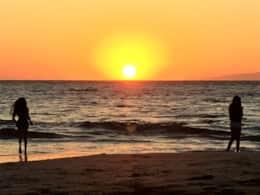Sunset from Kamaole Beach II... our beach