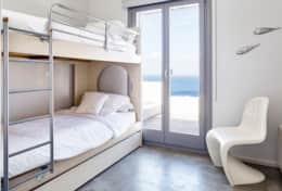 second bedroom with bunk beds