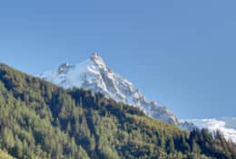 Expanded view of Aiguille du Midi.