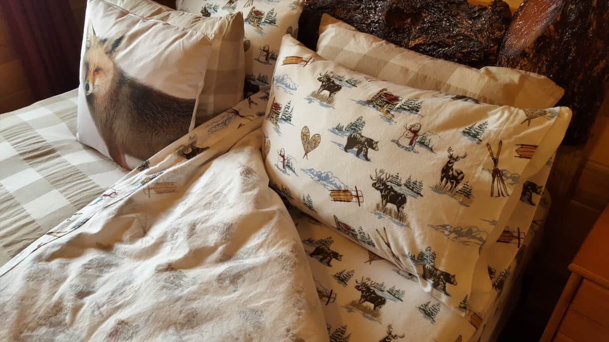 Flannel sheets in Winter
