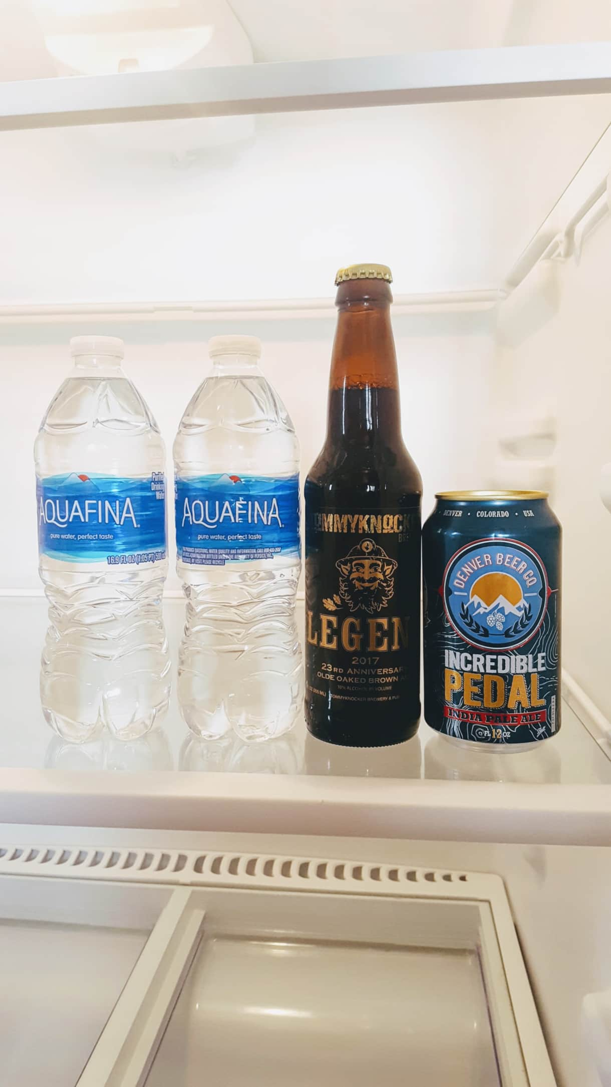 Complimentary bottled water & local Colorado beers