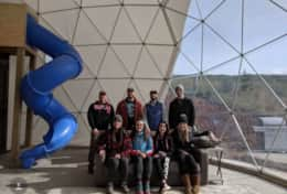 Asheville Glamping- Happy Campers inside Mega Dome