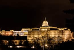 Night View Over  Buda Castle