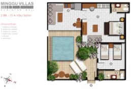 Villa Senin - Ground floor - Floor Plan