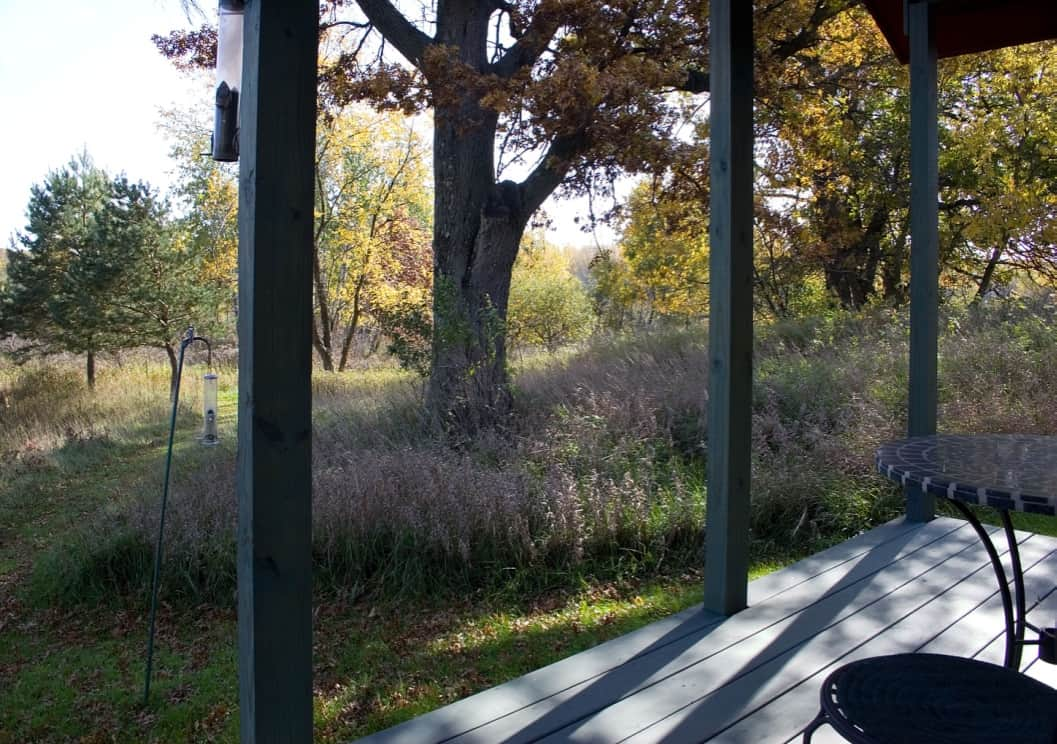 Porch at Pine Grove Park Bed and Breakfast Guest House Romantic Getaway in Reedsburg Wisconsin